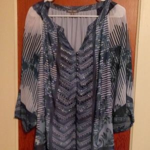 Roz & Ali Lined Sheer Top